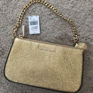 Michael Kors Gold Evening Bag